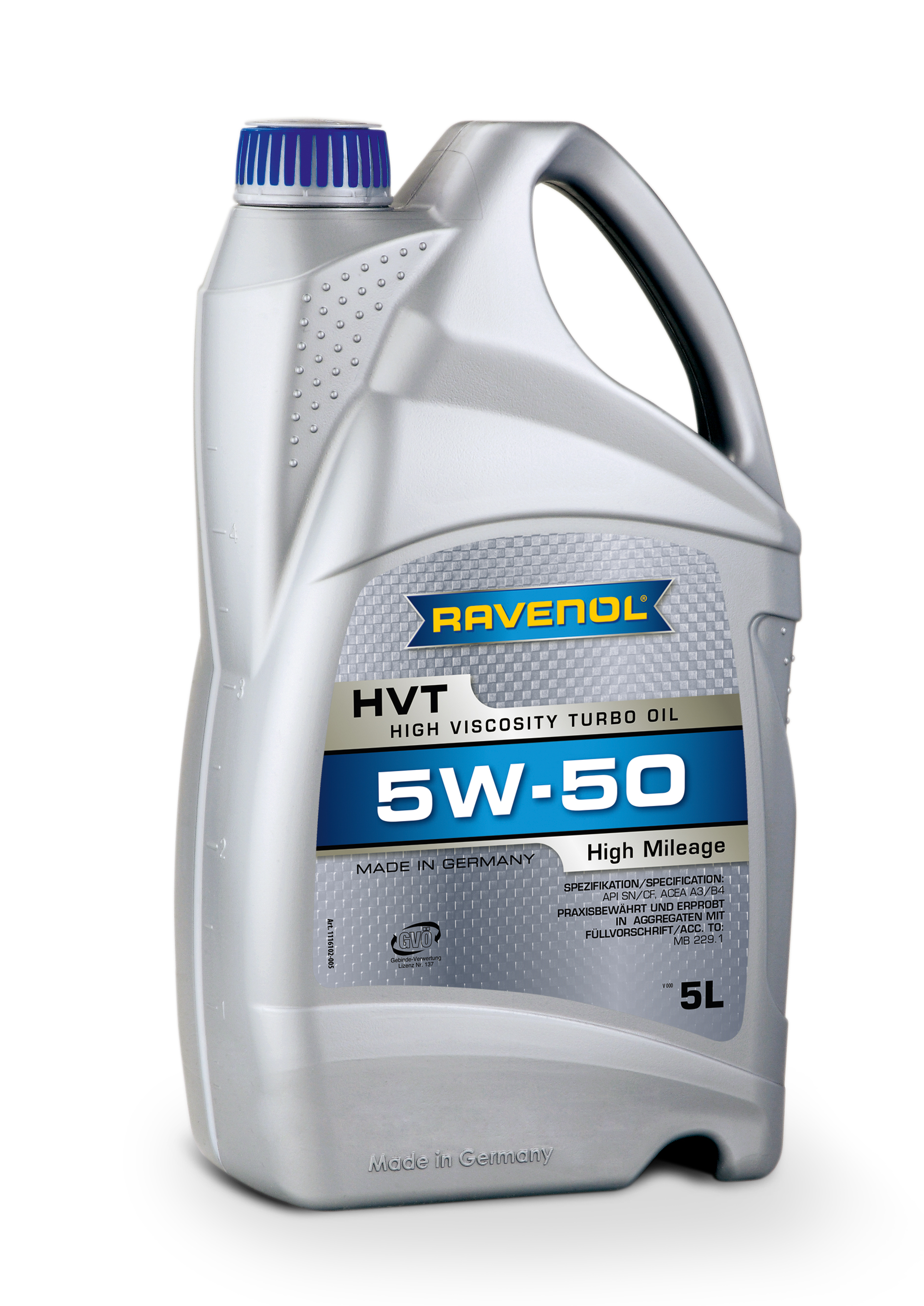 RAVENOL HVT High Viscosity Turbo Oil SAE 5W50